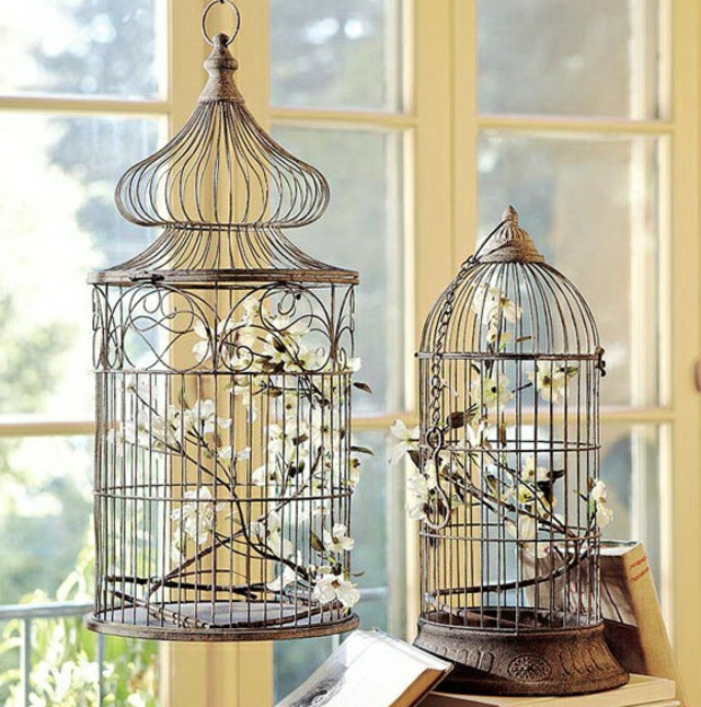 cage oiseau de decoration. Black Bedroom Furniture Sets. Home Design Ideas