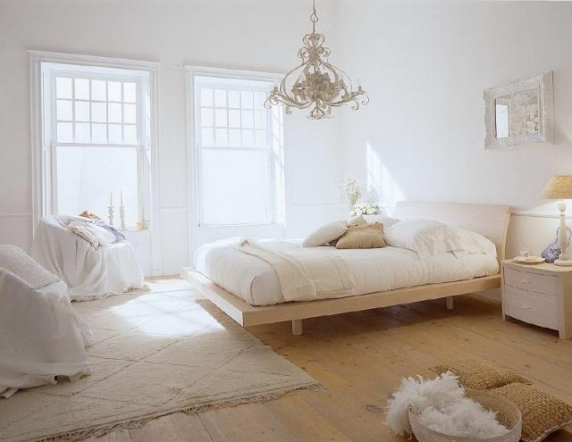 deco chambre a coucher blanc - visuel #8