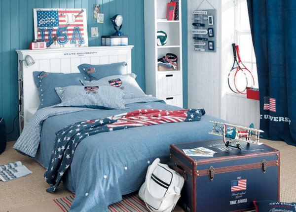 deco chambre ado garcon bleu gris visuel 6. Black Bedroom Furniture Sets. Home Design Ideas