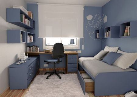 deco chambre ado garcon bleu gris visuel 8. Black Bedroom Furniture Sets. Home Design Ideas