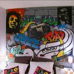 deco chambre ado graffiti