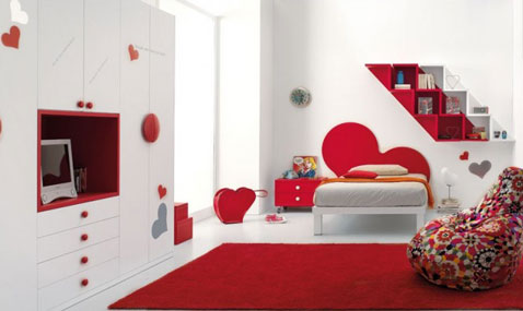 deco chambre ado rouge et blanc - visuel #4