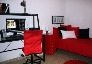 deco chambre ado rouge et blanc. Black Bedroom Furniture Sets. Home Design Ideas