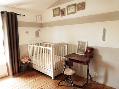 deco chambre bebe beige et marron - visuel #1