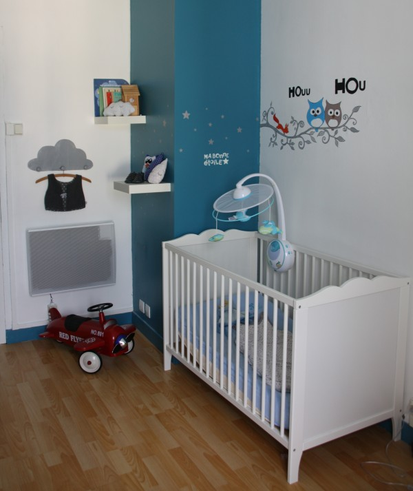 Deco chambre bebe bleu canard visuel 2 - Chambre garcon bleu et rouge ...