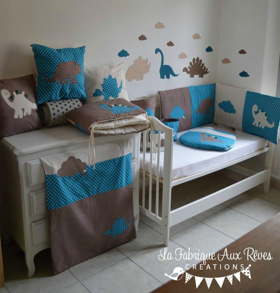 deco chambre bebe bleu canard - visuel #9