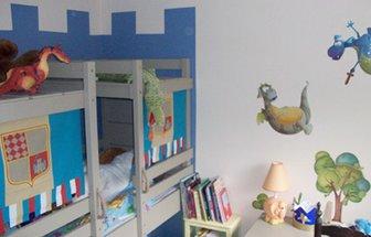 Décoration de chambre de bébé ( peinture chambre bébé savane, décoration