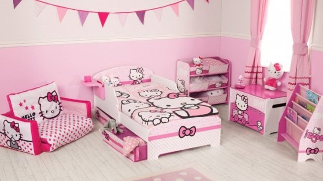 Chambre pour fille hello kitty - Hello kitty chambre bebe ...