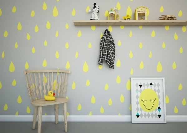 deco chambre bebe jaune et gris - visuel #2