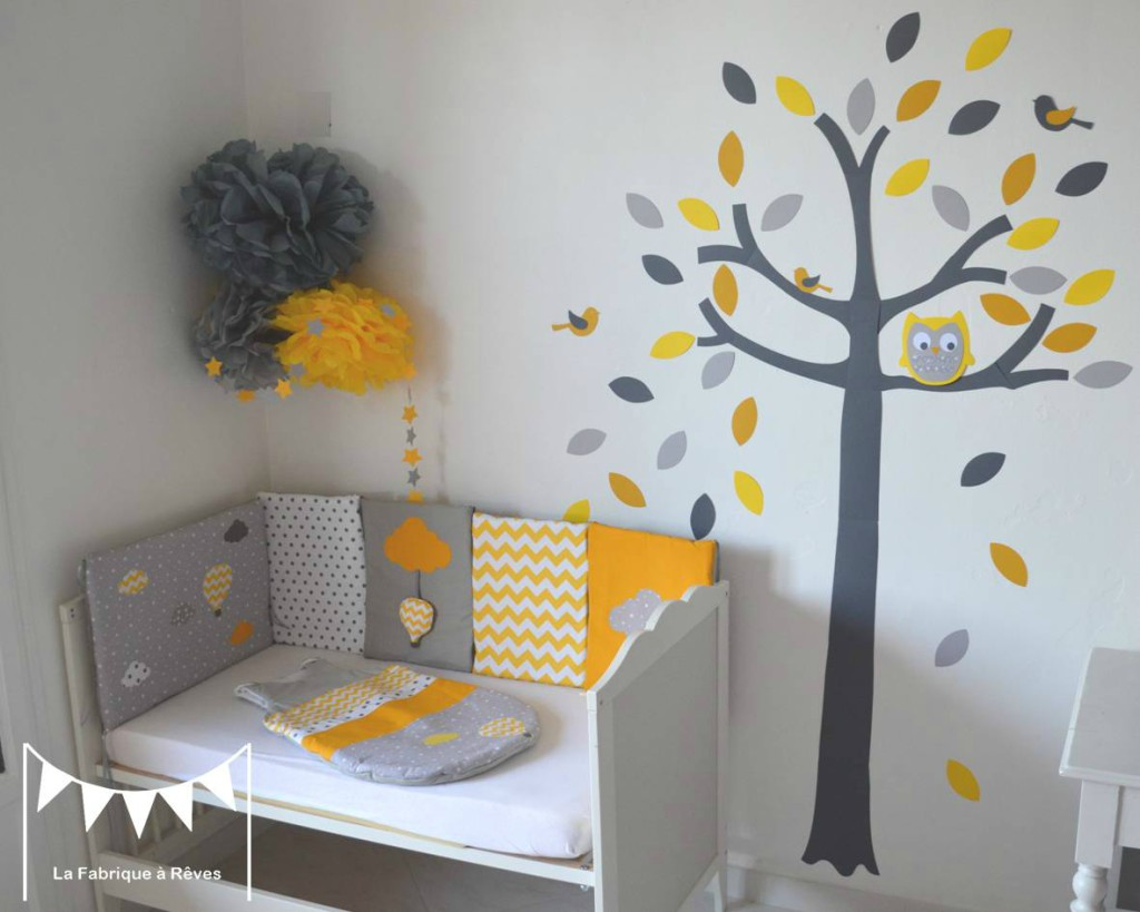 Chambre ado gris et jaune design de maison for Decoration chambre bebe blog