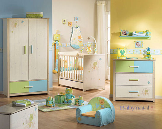 Emejing decoration chambre bebe jaune pictures for Decoration chambre bebe jaune et gris
