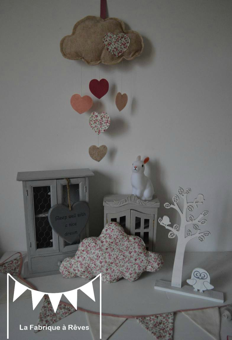 Decoration chambre bebe fille gris et rose for Deco murale chambre bebe fille