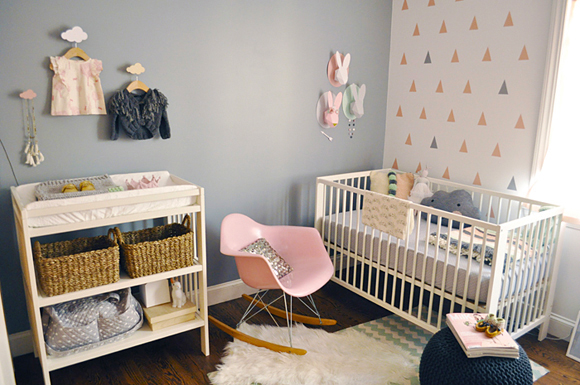 deco chambre bebe scandinave - visuel #7