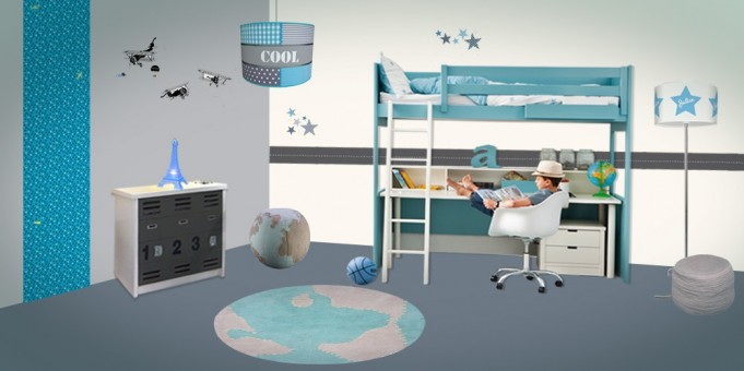 deco chambre bebe theme voyage visuel 7. Black Bedroom Furniture Sets. Home Design Ideas