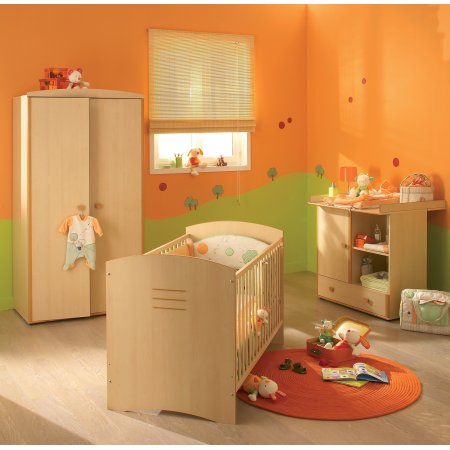 d coration chambre orange et vert. Black Bedroom Furniture Sets. Home Design Ideas