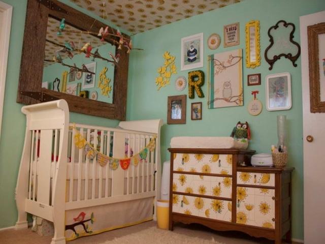 Deco chambre bebe vert orange - Cadre decoration chambre bebe ...