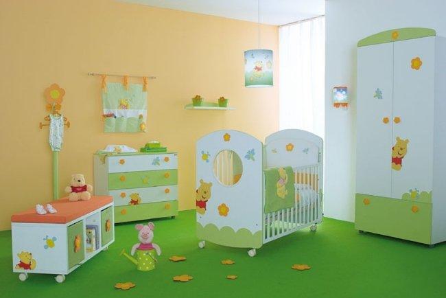 deco chambre bebe vert orange - visuel #1