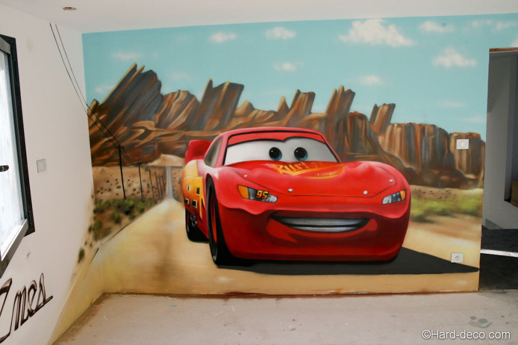 D co chambre cars walt disney for Chambre enfant cars