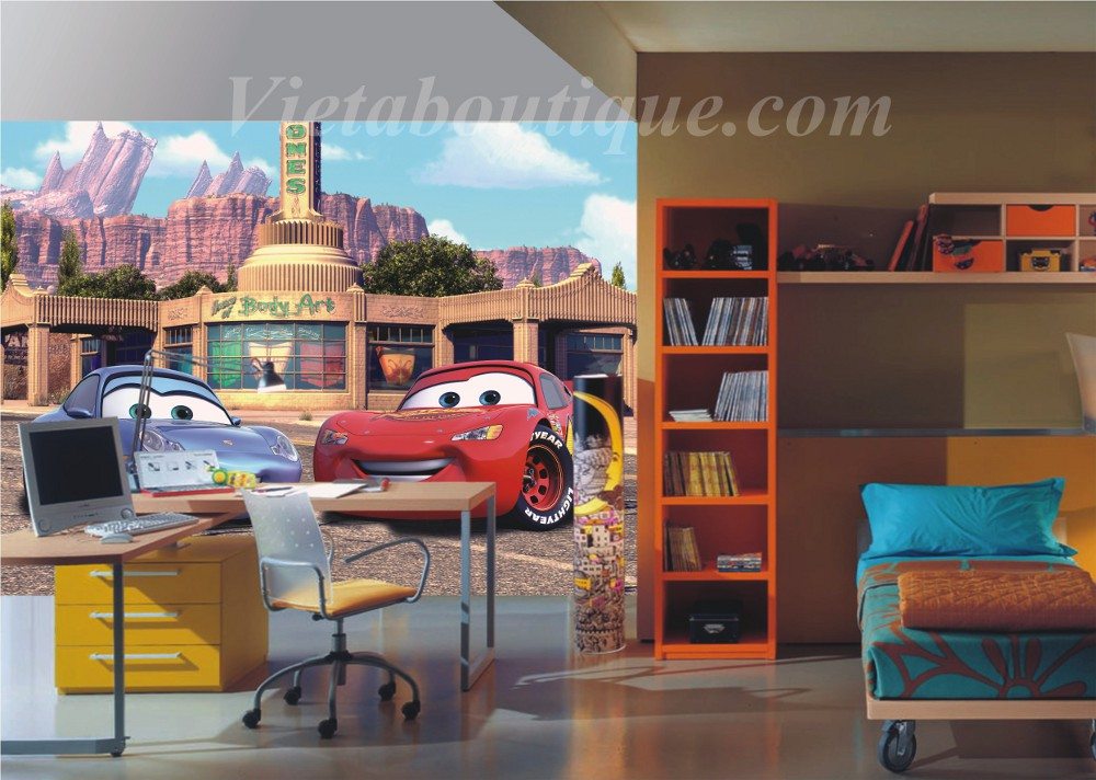 Deco chambre cars walt disney 100643 la for Decoration maison automobile
