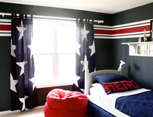 deco chambre fille gris et rouge - visuel #8