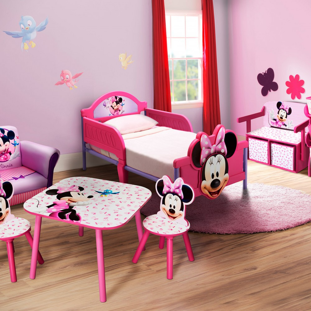 decoration chambre fille minnie. Black Bedroom Furniture Sets. Home Design Ideas
