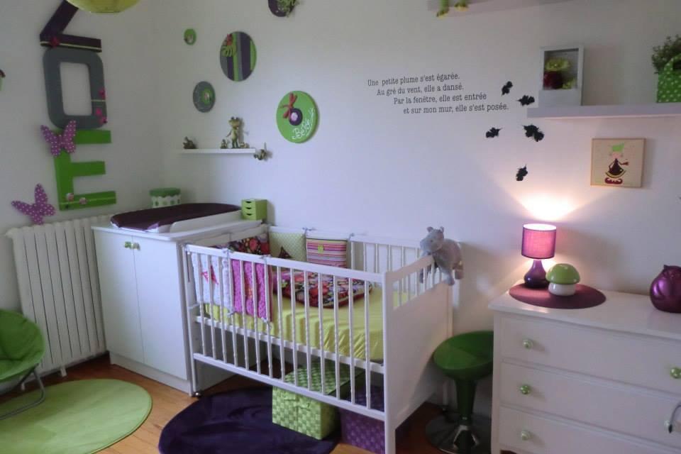 chambre grise et prune tableau pour chambre fille grise et mauve les plus belles chambres de. Black Bedroom Furniture Sets. Home Design Ideas