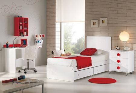 deco chambre fille rouge et blanc visuel 5. Black Bedroom Furniture Sets. Home Design Ideas