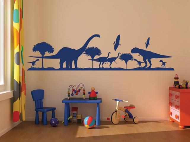deco chambre garcon dinosaure visuel 7. Black Bedroom Furniture Sets. Home Design Ideas