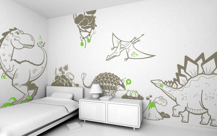 Deco chambre garcon dinosaure - Deco chambre dinosaure ...