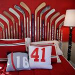 deco chambre garcon hockey