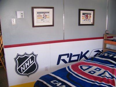 decoration chambre hockey sur glace