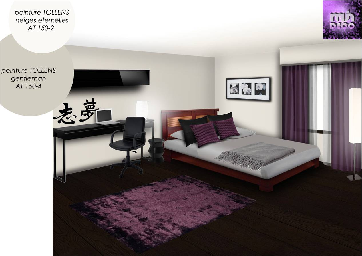 deco chambre interieur. Black Bedroom Furniture Sets. Home Design Ideas