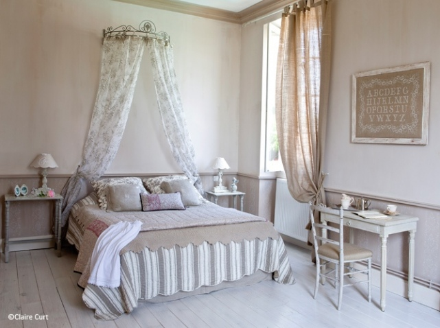 deco chambre romantique beige - visuel #2