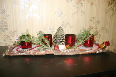 Deco noel a fabriquer centre de table visuel 9 - Centre de table noel a faire ...