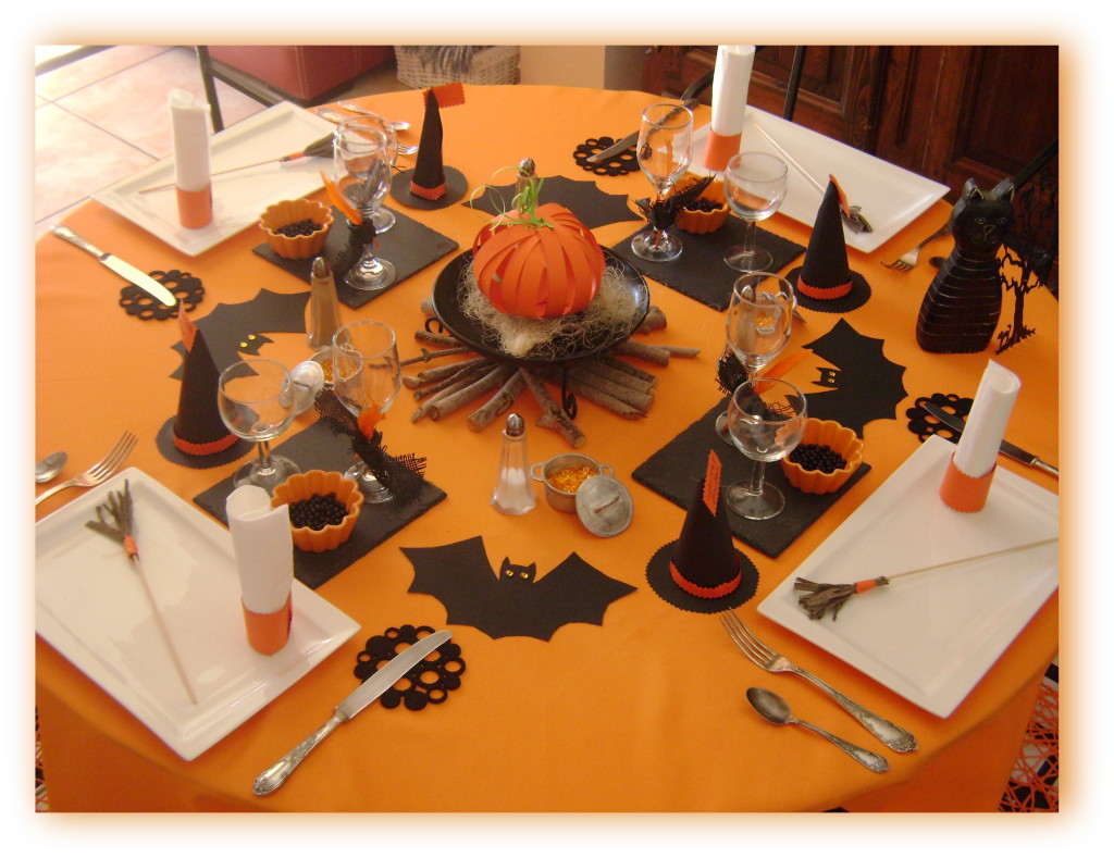 Deco table halloween faire soi meme visuel 1 - Decoration pour halloween a faire soi meme ...