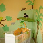 decoration chambre bebe jungle