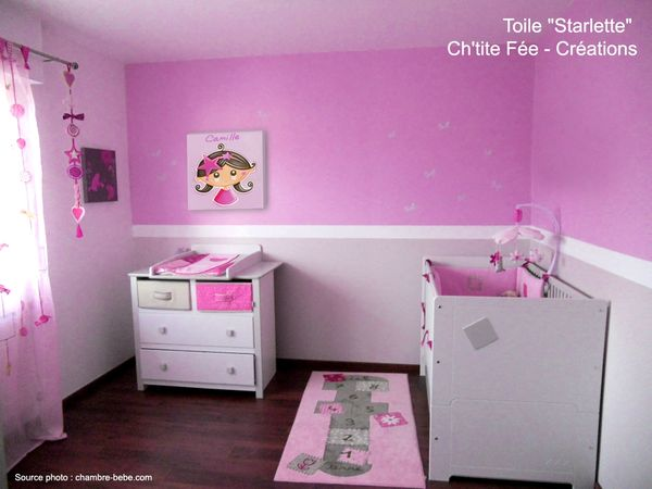 Decoration chambre fille fee for Modele chambre rose