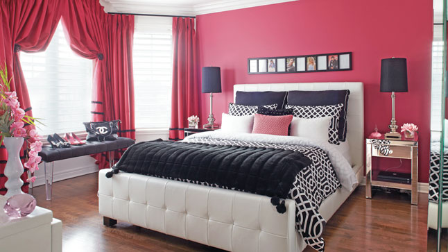 decoration chambre glamour visuel 2. Black Bedroom Furniture Sets. Home Design Ideas