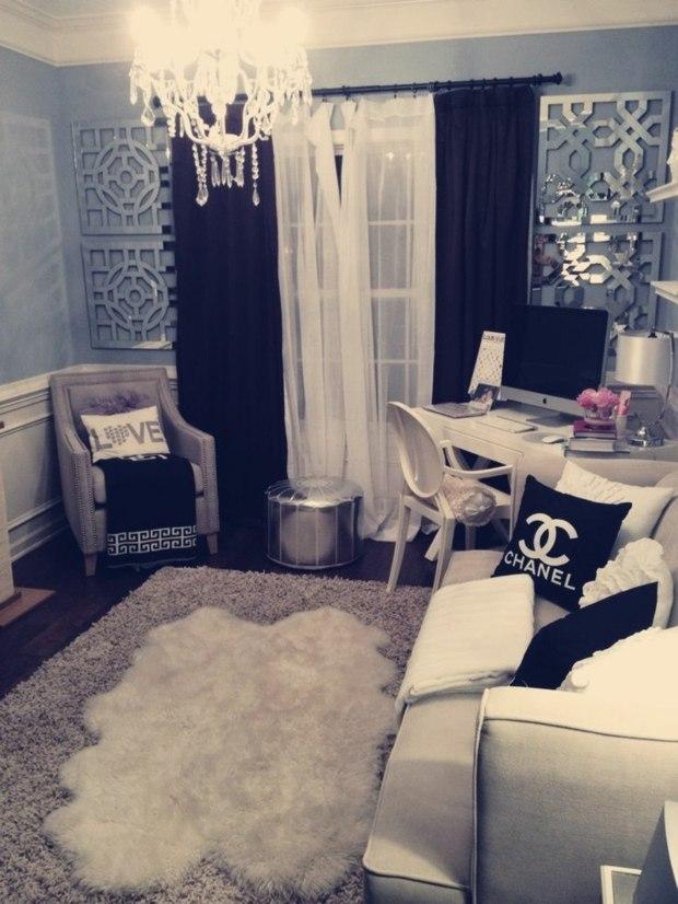 decoration chambre glamour visuel 6. Black Bedroom Furniture Sets. Home Design Ideas