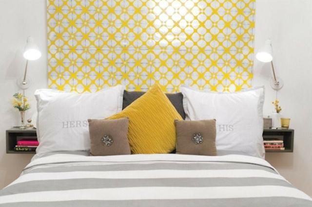 Decoration chambre jaune et gris visuel 6 for Chambre bebe jaune moutarde
