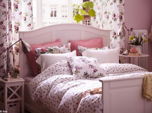 decoration chambre romantique rose - visuel #2