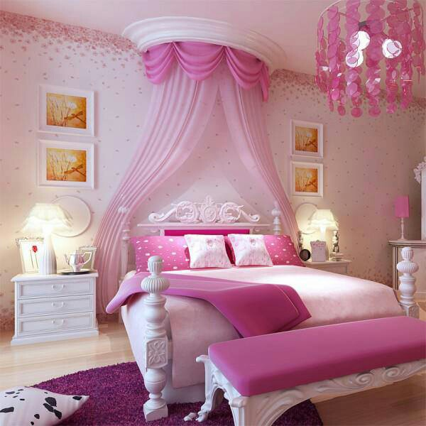 decoration chambre romantique rose visuel 4. Black Bedroom Furniture Sets. Home Design Ideas