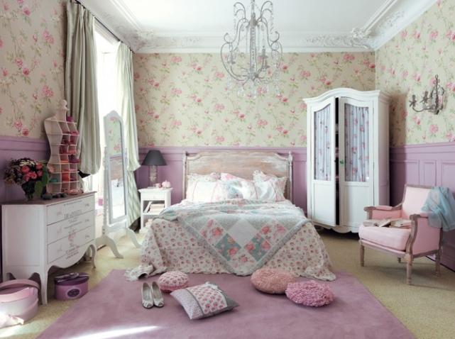 decoration chambre romantique rose - visuel #1