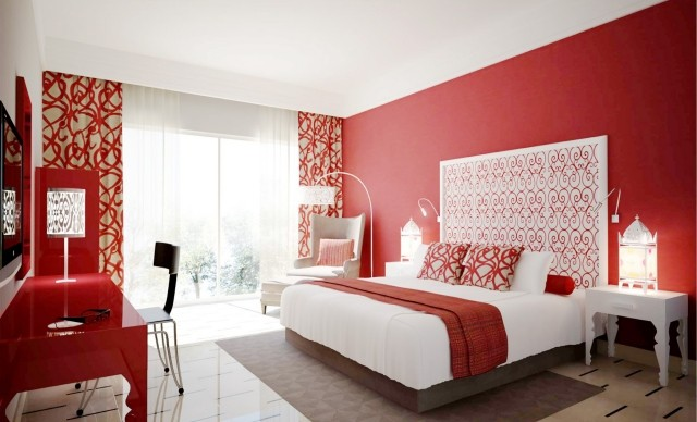 Beautiful Deco Chambre Rouge Et Beige Photos - Matkin.info ...