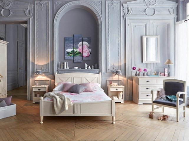 Decoration chambre style boudoir for Chambre in french