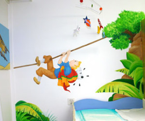 decoration chambre tintin