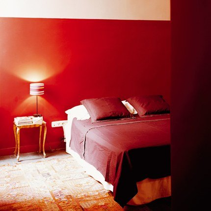 Stunning Chambre A Coucher Peinture Rouge Images - ansomone.us ...
