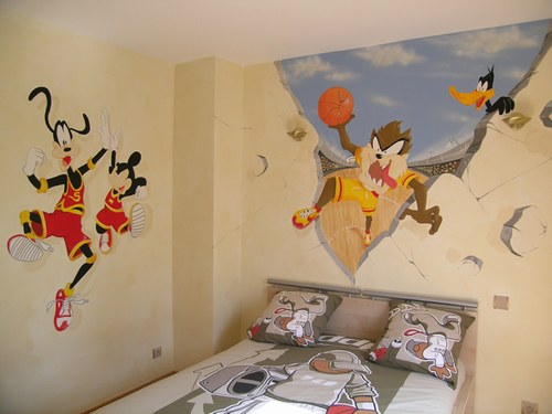 decoration murale chambre fillette