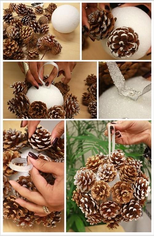 fabriquer deco noel avec pomme de pin visuel 2 - Decoration Avec Des Pommes De Pin