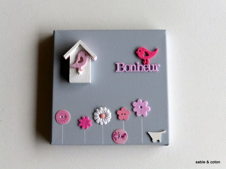 Creation tableau deco great cration de salle de bain pour for Toile pour chambre bebe